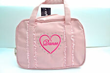 Capezio B97C Children's Pink Heart Bag Polyester Ballet Dance Dancewear