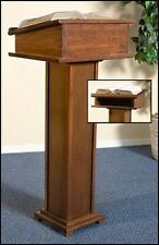 """Solid Maple Hardwood Lectern Pulpit with Shelf 43"""" High with a 16 x 20 Top"""