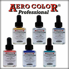 SCHMINCKE AERO COLOR SET_6 x 28 ml AIRBRUSH FARBEN_  MRTALLIC EFFEKT FARBEN SET