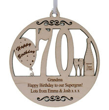 70TH PERSONALISED BIRTHDAY PLAQUE - ENGRAVED WITH THE WORDING OF YOUR CHOICE