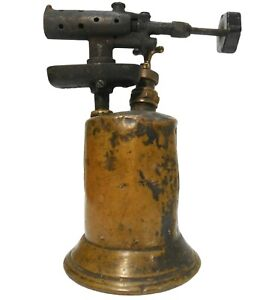 CLAYTON & LAMBERT CO. 1921 EARLY 20TH C VINT BRASS & IRON INDUSTRIAL BLOW TORCH