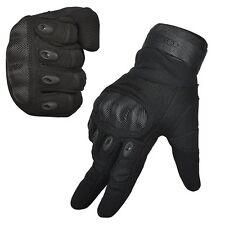 Mens Full Finger Sap Gloves Large Motocycle Driving gloves Black knuckle padding