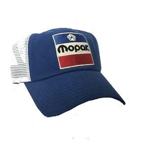 Blue & White Hat / Cap w/ Red White & Blue 1972 Mopar Emblem (Licensed)