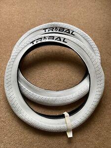 Tribal BMX Tyres White 20 x 2.40