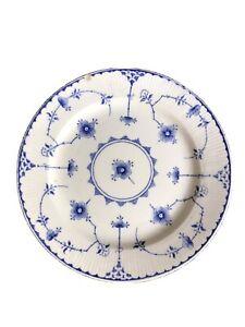Vintage Furnivals Denmark White/Blue Salad Desert Side Bread Plate Made England