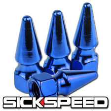 4PC SICKSPEED SPIKED BOLT FOR ENGINE BAY DRESS UP KIT 8X1.25 P4 BLUE