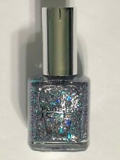 """NEW PURE ICE NAIL POLISH """"OVER YOU""""  PASTEL BLUE GLITTER LACQUER ENAMEL"""