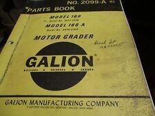 Galion 160 160 A Motor Grader Parts Book Manual