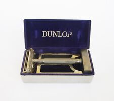 ANTIQUE SET OF VALET SHAVING RAZOR WITH DUNLOP CHROMED BRASS BOX