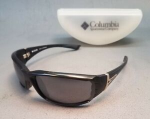 Columbia High Approach Black Sunglasses With Case Very Good Preowned Condition