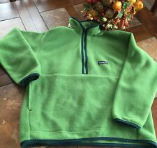 PATAGONIA kids green Better Sweater Fleece Pullover Jacket size M Boy/Girl NEW