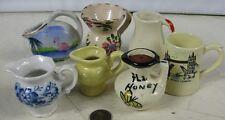 Lot of 7 Vintage Miniature Creamers Fl Honey Wade London Mug