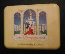 Tokyo Disneyland Hotel Amenity Kit - Items and Tin Sorcerer Mickey Mouse Castle