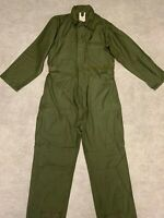 Cotton Sateen Coveralls US ARMY Type I  Military OD Stain Small D-31