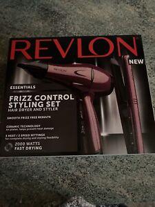 Revlon Frizz control set (Dryer+Straigtner) Brand new