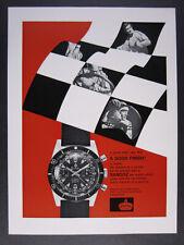 1968 Sandoz Landeron 248 Chronograph Diver's Watch vintage print Ad