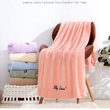 Cotton Absorbent Soft Towels Coral Velvet Embroidery Bath Towel Super Absorbent