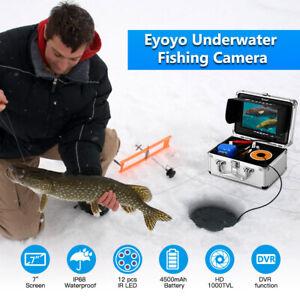 7 Inch LCD Monitor 30M Fish Finder 8GB Underwater Fishing Camera 12pcs IR LEDs