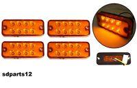 4x 12v 8 LED Indicatori Laterali Luci Ingombro Arancio Per Camion Telaio Camper