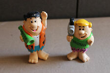 lot of 2 plastic 1992 Flintstones Vintage Figures Fred Barney Cake Toppers