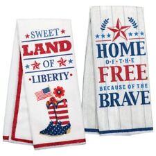 Patriotic 4th July Cowboy Boots Star Brave Free Liberty Kitchen Dish Towels NWT