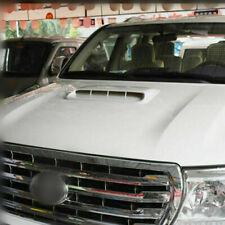 Universal White ABS Car Air Flow Intake Hood Scoop Vent Bonnet Decorative Cover