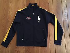 POLO RALPH LAUREN 2007 Official US OPEN Jacket Blue W/ Yellow Stripes Small