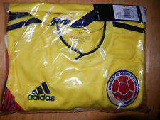 More details for new colombia 2018/19 home yellow long sleeve football shirt adidas bnwt m