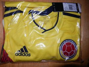 New Colombia 2018/19 home yellow long sleeve football shirt Adidas BNWT M