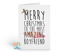 amazing boyfriend christmas card, funny, merry christmas, romantic xmas card