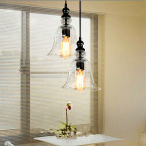 Glass Pendant Light Modern Ceiling Lights Kitchen Chandelier Lighting Room Lamp