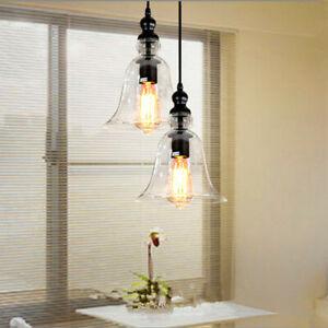 Glass Pendant Light Modern Ceiling Lamp Kitchen Chandelier Lighting Room Lights