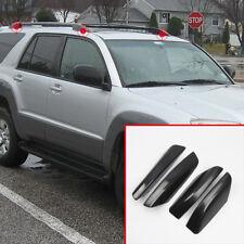 Black Outer Roof Rack Bar Rail End Cover Shell for Toyota 4Runner N210 2003-2009