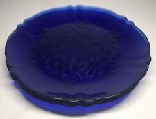 Lot 1 De 4 Assiettes En Verre Bleu Cobalt D 23 Cm Idéal Déco Vintage