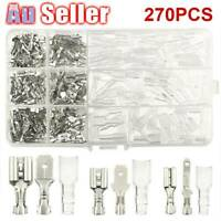 Crimp Electrical Insulated Assorted 270Pcs Spade Set Terminals Wire Connector 1