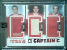 MAURICE RICHARD/JEAN BELIVEAU/H.RICHARD AUTHENTIC PIECES OF GAME-USED JERSEY/14