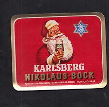 Ancienne étiquette alcool Allemagne BN9105 Bière Père Noël