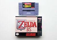 BS Legend of Zelda Maps 1 & 2 Game / Case - Super Nintendo SNES (USA Seller)