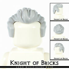 Lego Minifigure Hair LIGHT GRAY 21268 Male Boy Short Swept Back with Sideburns