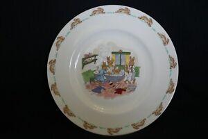 vintage ROYAL DOULTON Bunnykins plate bone china baby in bath