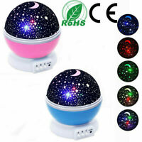 Rotating Starry Sky Projection Night light Moon Star Lamp for Kids Baby Party
