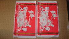NEW Vintage Asciugamani in Cotone cinese Flannels come copertine per federe per cuscini