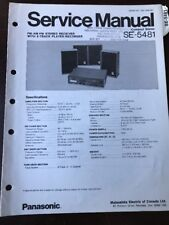 Original Panasonic Technics Model SE-5481 Compact Stereo System Service Manual