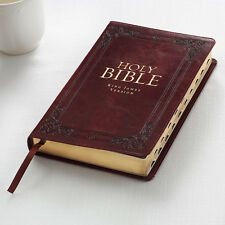 KJV Holy Bible King James Version Thumb Indexed Burgundy Faux Leather Gift Bible