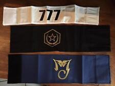 RARE michael jackson brassards armbands officiels complete set of 3