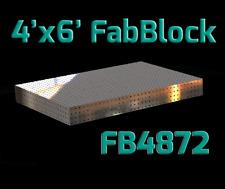 CertiFlat FB4872 4'X6' FabBlock DIY Modular Welding Table Top Kit - Heavy-Duty