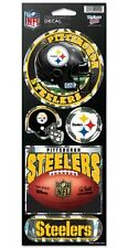 PITTSBURGH STEELERS PRISMATIC HOLOGRAPH STICKER DECAL SHEET OF 5 NFL FOOTBALL
