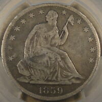 1859-O Seated Liberty Half Dollar 50c PCGS Certified VG10