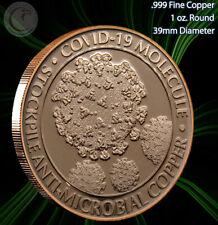 """""""Corona Molecule"""" Copper 1 oz .999 Copper Round"""