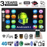 "Android 8.1 7"" 2Din Quad Core GPS Navi WiFi Car Stereo MP5 Player FM Radio USB"